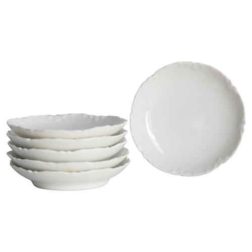 French Porcelain Butter Pats, S/6