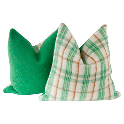 Wool Camp Blanket Pillow, Pr