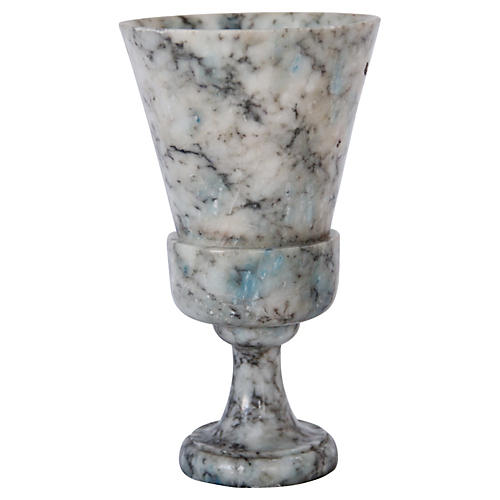 Italian Marble Pedestal Vase