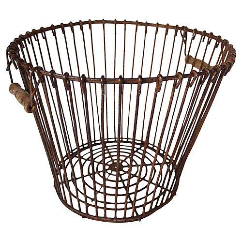 Mussel Harvest Basket w/ Handles