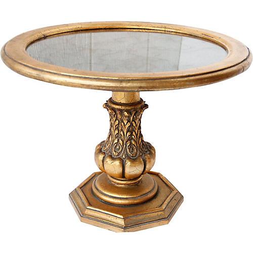 Midcentury Mirror-Top Gilt Table