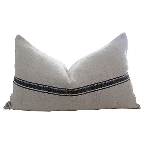 Antique French Duo Stripe Pillow