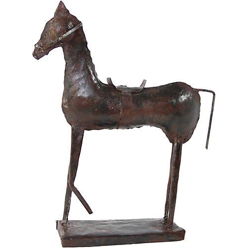 Antique Metal Horse