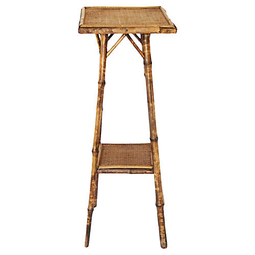 19th-C. English Bamboo Side Table