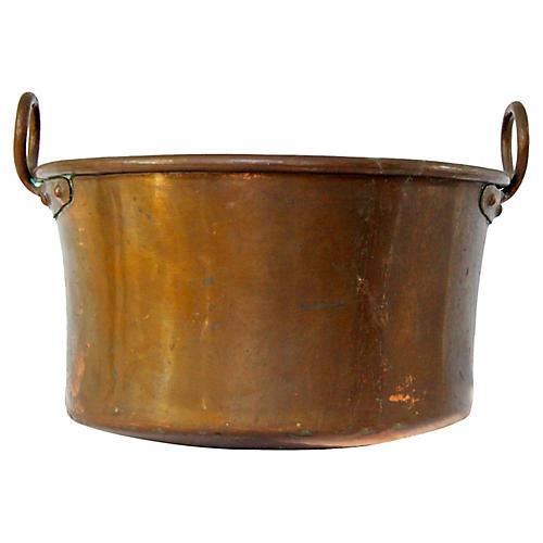 Antique French Copper Cachepot