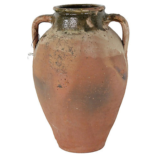 Antique French Terracotta Olive Jar