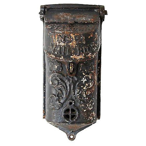 Antique Iron Standard Mailbox