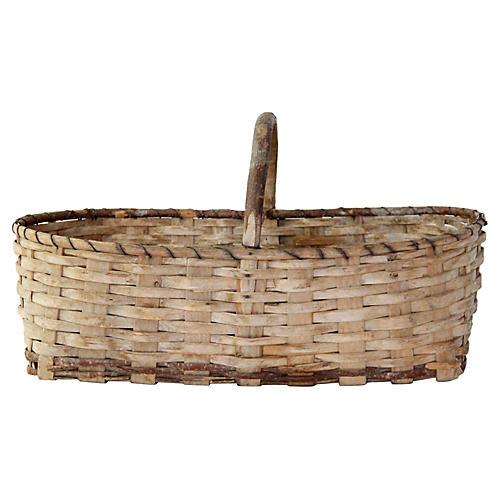 Antique European Mushroom /Market Basket