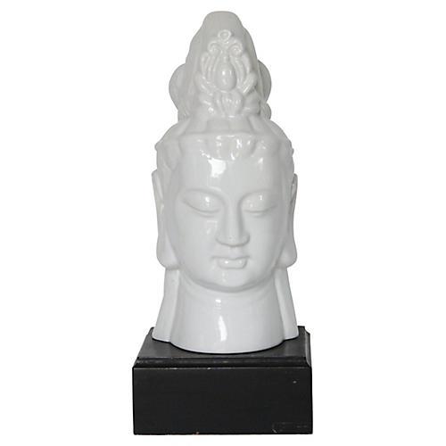 Ceramic Pedestal Hindu Bust