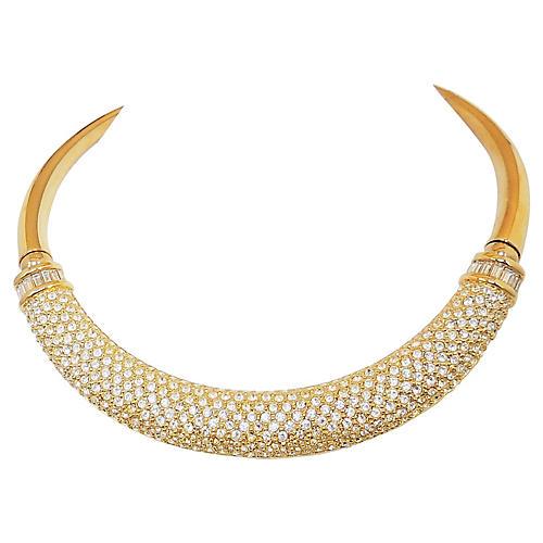 Napier Pavé Swarovski Crystal Necklace