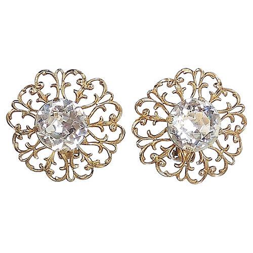 1950s Napier Paste Earrings