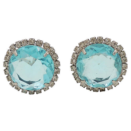 Castlecliff Faux-Aquamarine Earrings