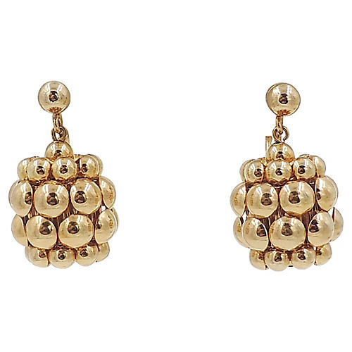 Napier Goldtone Earrings, 1968
