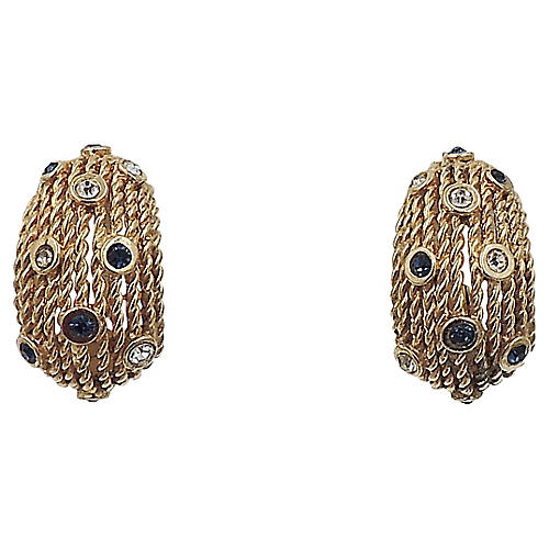 1950s Boucher Half-Hoop Earrings