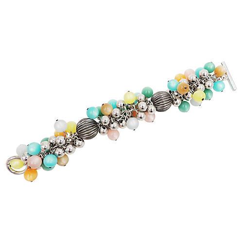 1960s Napier Pastel Moonglow Bracelet