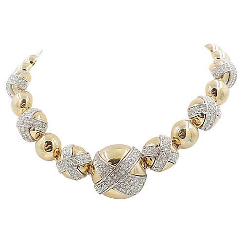 Givenchy Pavé Rhinestone Necklace
