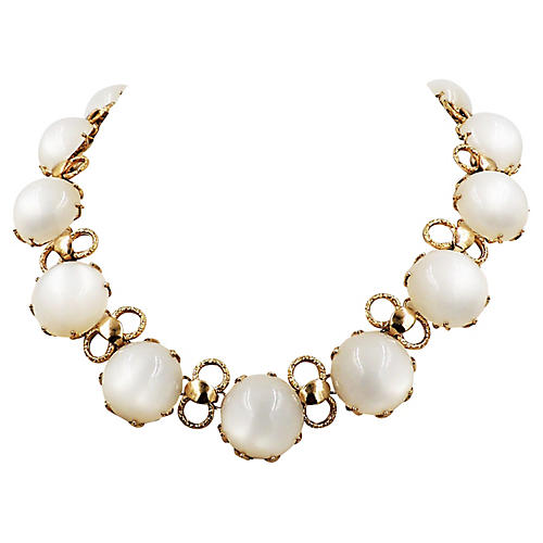 1950s Napier Faux-Moonstone Necklace