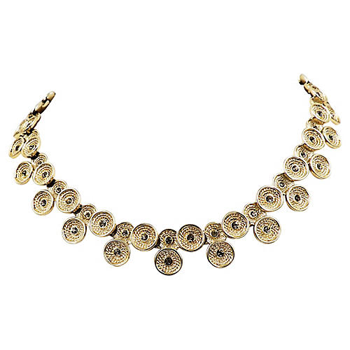 1960s Marboux Rhinestone Collar Necklace