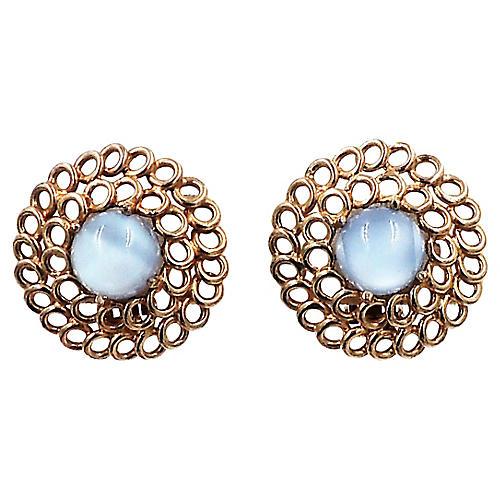 Reja Faux-Moonstone Earrings