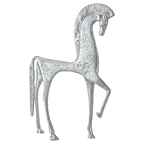 Silver Etruscan-Style Horse