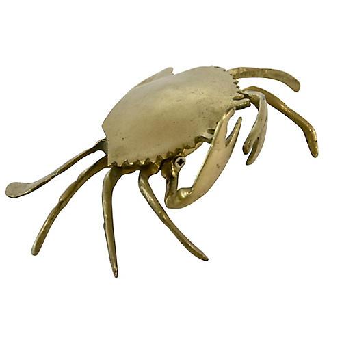 Solid Brass Crab Box