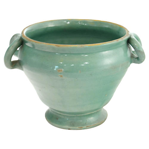 Green Hand-Thrown Italian Pottery
