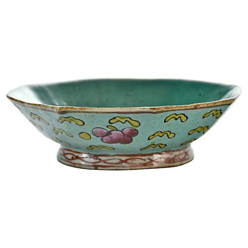 19th-C. Aqua Octagonal Chinese Bowl