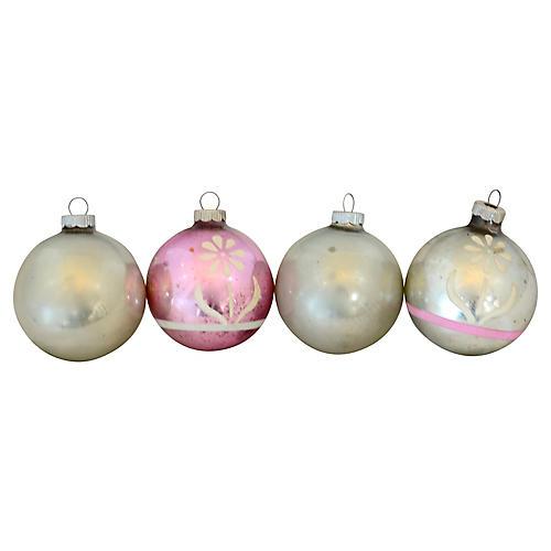 Shiny Brite Stencil Ornaments, S/4