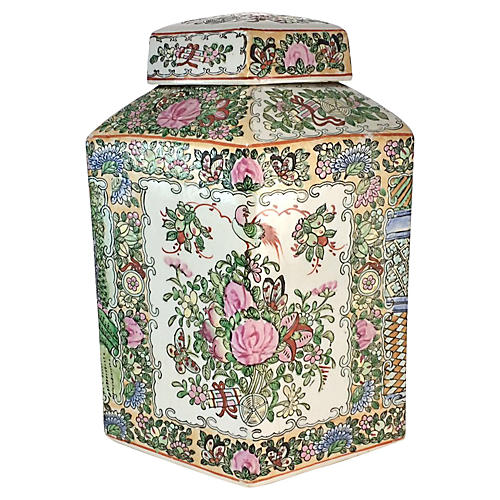 Famille Rose Hexagonal Jar