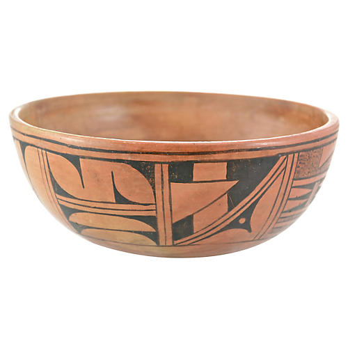 Native American Geometric Fine Line Bowl