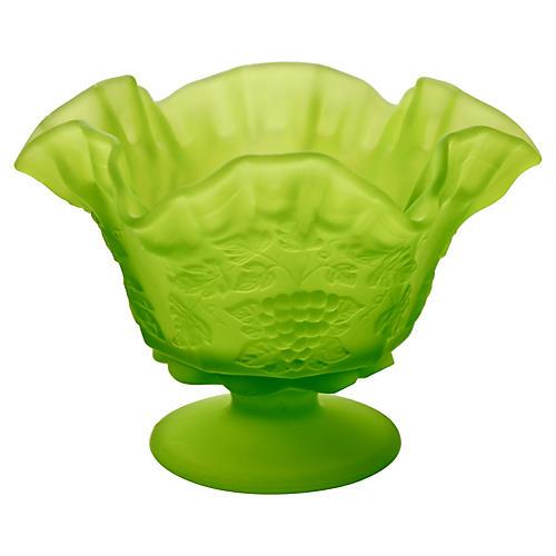 Chartreuse Grape Pattern Bowl