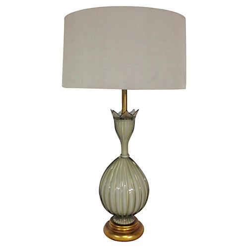 Marbro Opaline Murano Glass Lamp