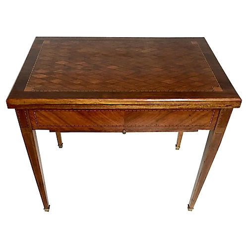 French Kingwood Marquetry Games Table