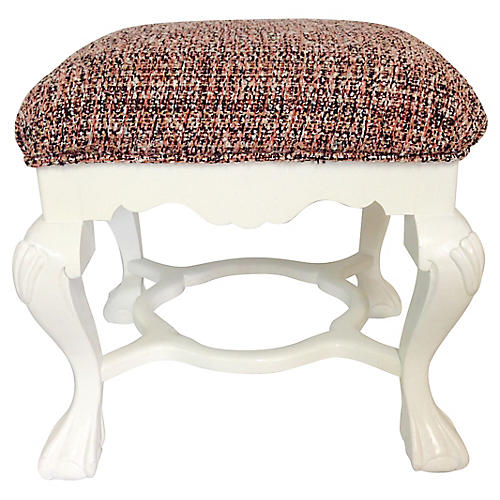 Queen Anne-Style Lacquered Bench