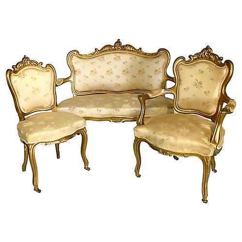 French Parlor Set, 3 Pcs