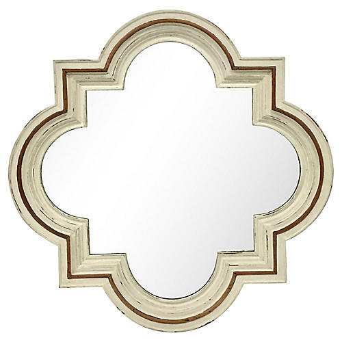 Italian Carved Quatrefoil Mirror