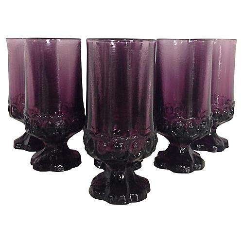 Tiffin Stem Glasses, S/7