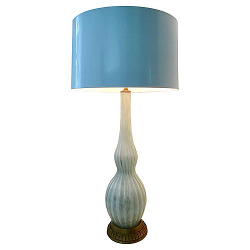 1950s Murano Glass Lamp