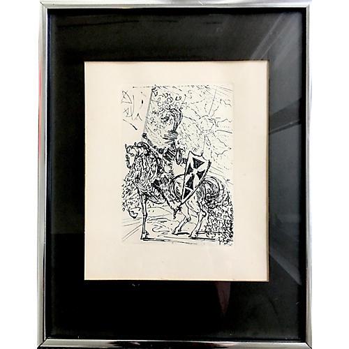 El Cid Etching by Salvador Dalí, Signed