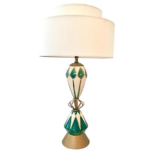 Ceramic & Brass Sputnik Lamp