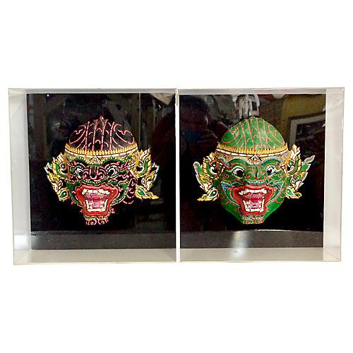 Framed Javanese Masks, S/2