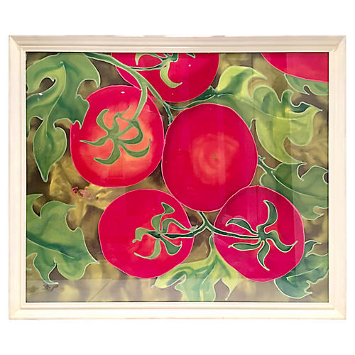 """Original Painting Framed """"Tomatoes"""""""