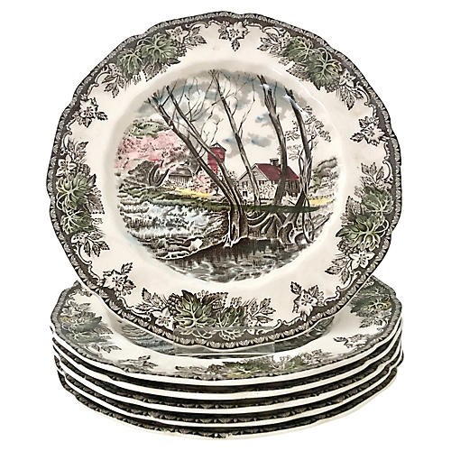 50's English Dinnerware S/17