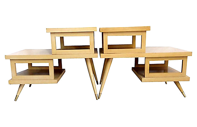 Mid-Century Modern Pair Of Side Tables