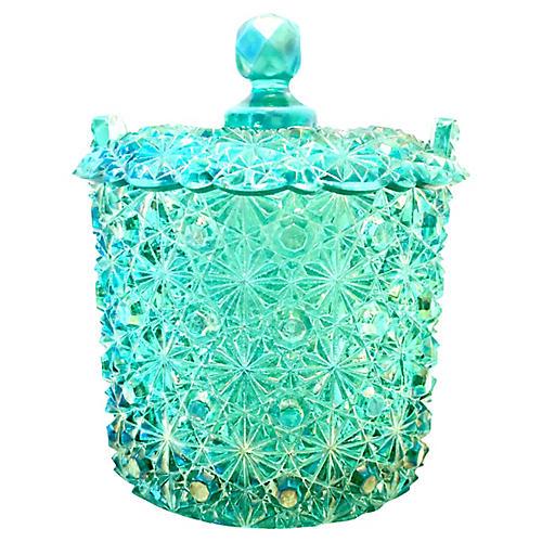 Vintage Cut Glass Lidded Jar