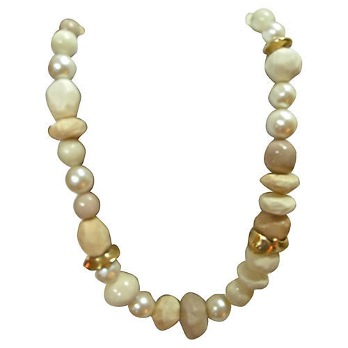 Givenchy Faux-Stone & Pearl Necklace