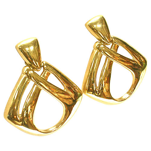 Givenchy Oversize Gold Knocker Earrings