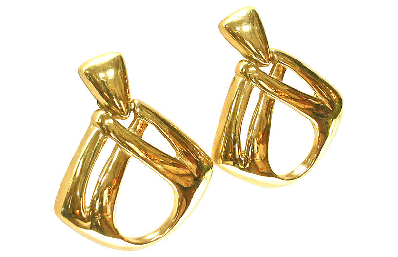 Givenchy Oversize Gold Knocker Earrings