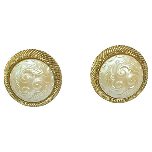 Givenchy Gold-Plated Pearl Earrings