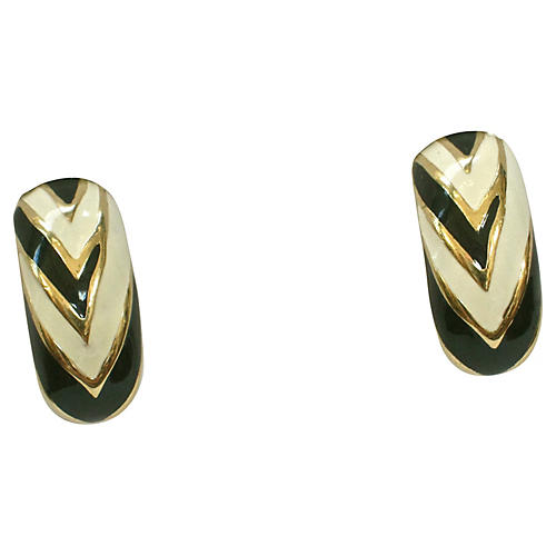 Givenchy Abstract Black & White Earrings